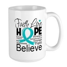 Faith Hope Ovarian Cancer Mug