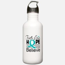 Faith Hope Ovarian Cancer Water Bottle