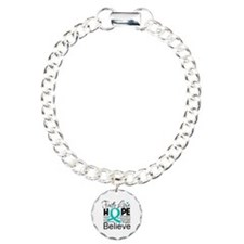 Faith Hope Ovarian Cancer Charm Bracelet, One Char