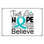 Faith Hope Ovarian Cancer Banner