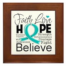 Faith Hope Ovarian Cancer Framed Tile