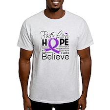 Faith Hope Pancreatic Cancer T-Shirt