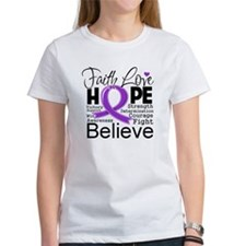 Faith Hope Pancreatic Cancer Tee