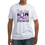 Faith Hope Pancreatic Cancer Fitted T-Shirt
