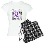 Faith Hope Pancreatic Cancer Women's Light Pajamas