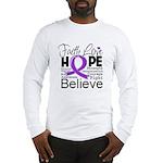 Faith Hope Pancreatic Cancer Long Sleeve T-Shirt