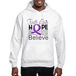 Faith Hope Pancreatic Cancer Hooded Sweatshirt