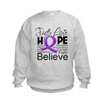 Faith Hope Pancreatic Cancer Kids Sweatshirt