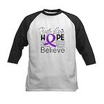 Faith Hope Pancreatic Cancer Kids Baseball Jersey