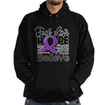 Faith Hope Pancreatic Cancer Hoodie (dark)