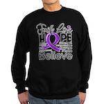 Faith Hope Pancreatic Cancer Sweatshirt (dark)