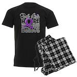 Faith Hope Pancreatic Cancer Men's Dark Pajamas