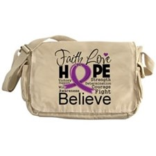Faith Hope Pancreatic Cancer Messenger Bag