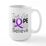 Faith Hope Pancreatic Cancer Large Mug