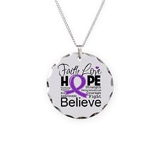 Faith Hope Pancreatic Cancer Necklace