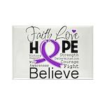 Faith Hope Pancreatic Cancer Rectangle Magnet (100