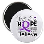 Faith Hope Pancreatic Cancer Magnet