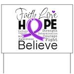 Faith Hope Pancreatic Cancer Yard Sign
