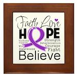 Faith Hope Pancreatic Cancer Framed Tile