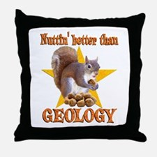 Geology Squirrel Throw Pillow