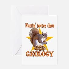 Geology Squirrel Greeting Card