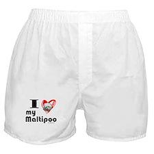 I Love my Maltipoo Boxer Shorts