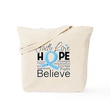 Faith Hope Prostate Cancer Tote Bag