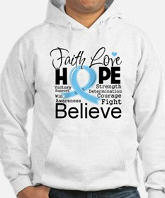 Faith Hope Prostate Cancer Hoodie