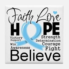 Faith Hope Prostate Cancer Tile Coaster