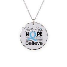 Faith Hope Prostate Cancer Necklace