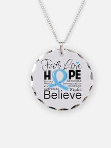 Faith Hope Prostate Cancer Necklace
