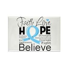 Faith Hope Prostate Cancer Rectangle Magnet