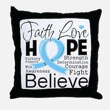 Faith Hope Prostate Cancer Throw Pillow