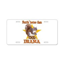 Drama Squirrel Aluminum License Plate