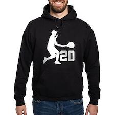 Tennis Uniform Number 20 Player Hoodie