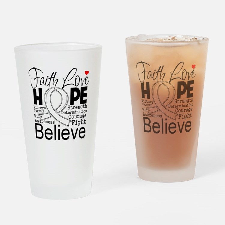 Faith Hope Retinoblastoma Drinking Glass