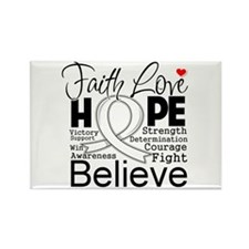 Faith Hope Retinoblastoma Rectangle Magnet