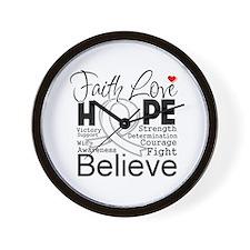 Faith Hope Retinoblastoma Wall Clock
