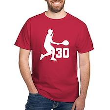 Tennis Uniform Number 30 Player T-Shirt