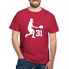 Tennis Uniform Number 31 Player T-Shirt