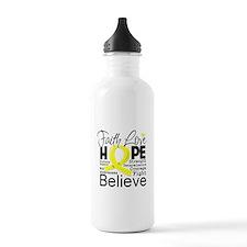 Faith Hope Sarcoma Cancer Water Bottle