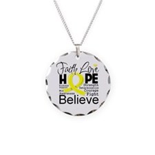 Faith Hope Sarcoma Cancer Necklace
