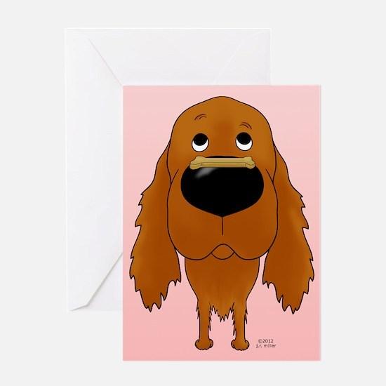 Irish Setter Valentine Greeting Card