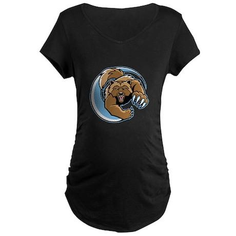 Wolverine Mascot Maternity Dark T-Shirt