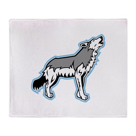 Howling Coyote Throw Blanket
