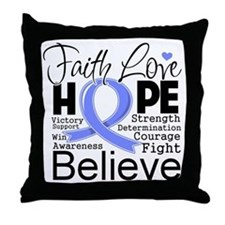 Faith Hope Stomach Cancer Throw Pillow