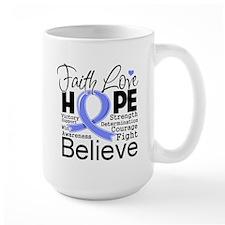 Faith Hope Stomach Cancer Mug