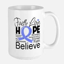 Faith Hope Stomach Cancer Mug