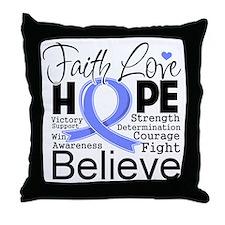Faith Hope Stomach Cancer Throw Pillow