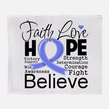 Faith Hope Stomach Cancer Throw Blanket